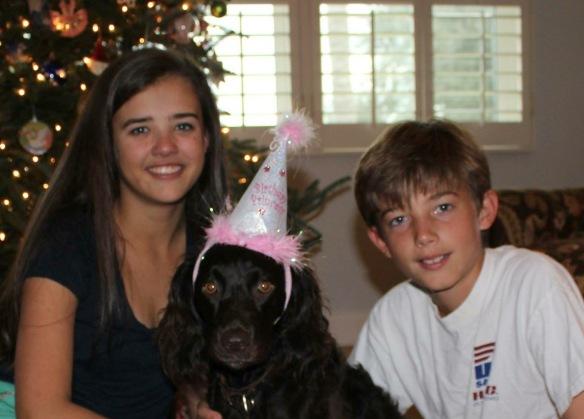 Jordan and Matthew celebrating Ruby's 2nd birthday in December.