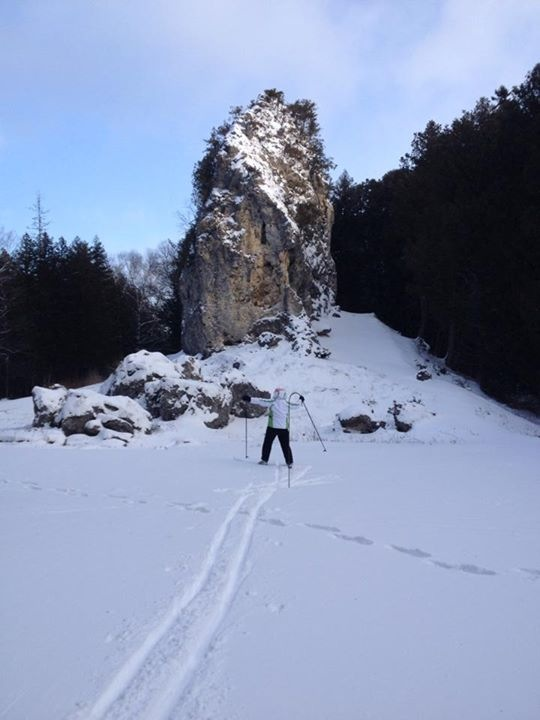 Sking enthusiasts like friend Orietta Barquero used that great snow (after the wind died down) to make a run out to Sugar Loaf.