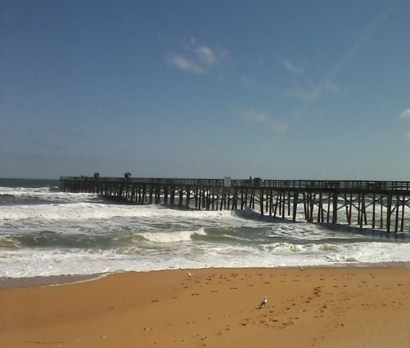 Love this photo Blake took last week of the Flagler Pier.  We have every one of those colors on the inside of our house!
