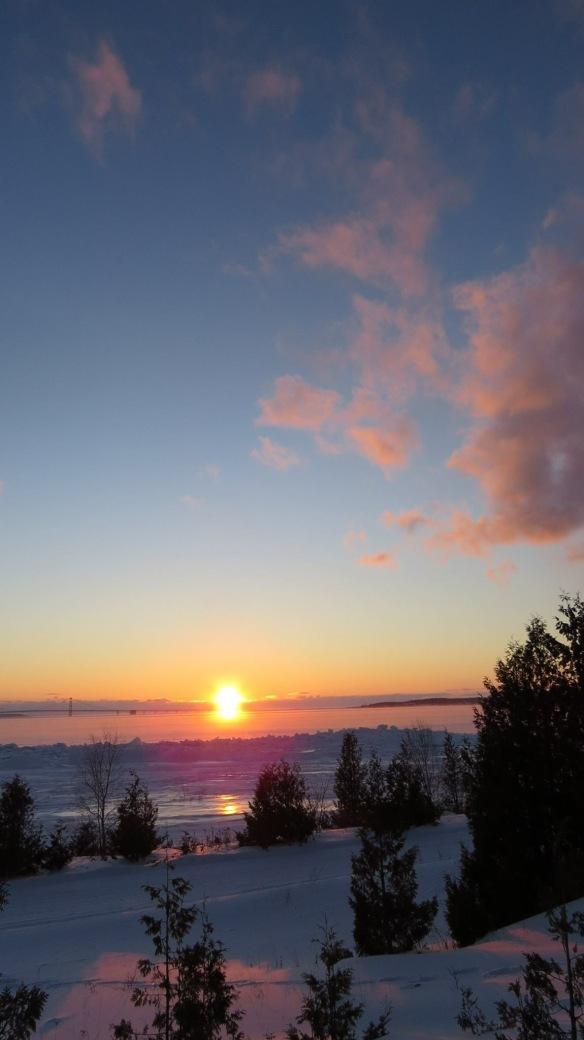 Beautiful island sunset a couple of mornings ago.  (Photo: Clark Bloswick)
