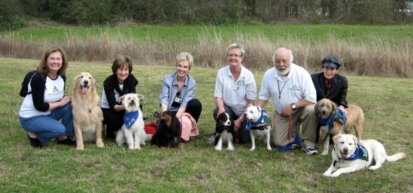 With our Pet Partners Therapy Dog group in Georgia