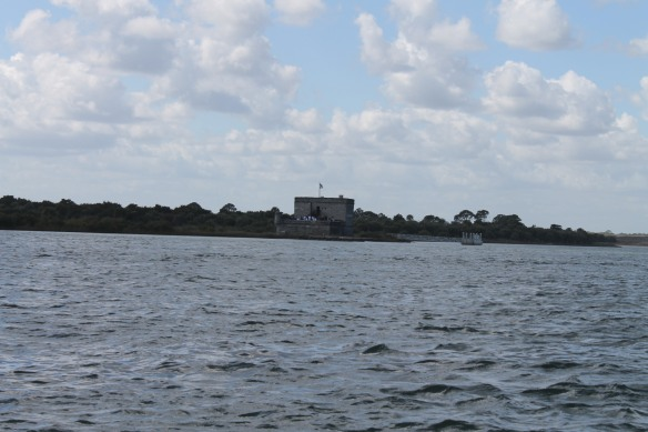 It's only a five-minute trip across the Matanzas Inlet to the fort . . .