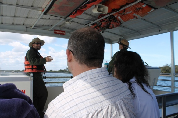 . . . and a park ranger accompanies each boat to answer questions and give a brief history.