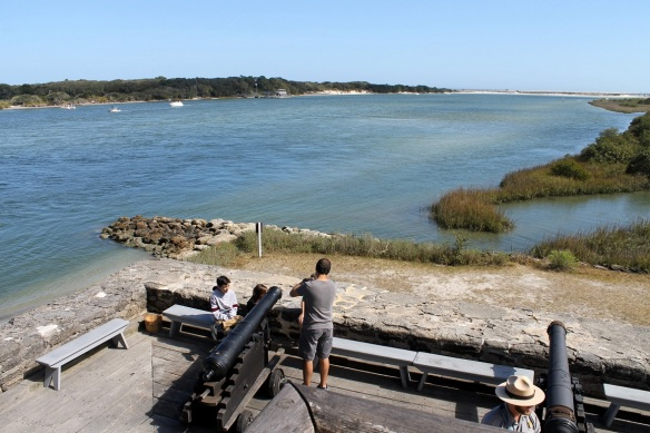 The fort was built to protect the southern approach to St. Augustine, which was held by the Spanish.