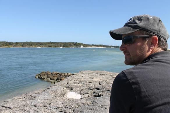 Blake - looking across Matanzas Inlet.