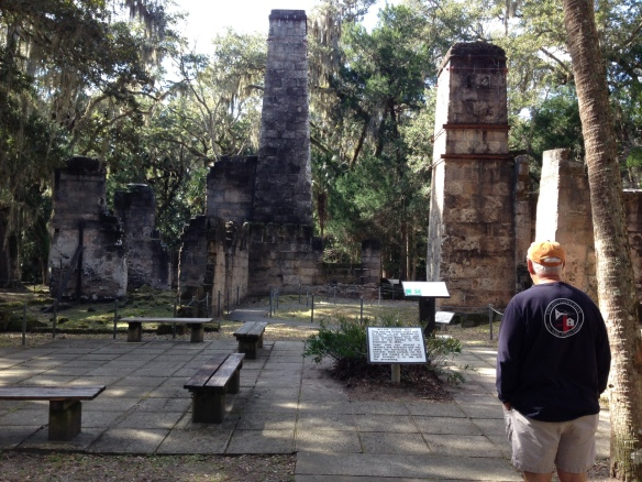 All that is left today of this plantation are the coquina ruins of the sugar mill, several wells, a spring house and the crumbling foundation of the mansion.