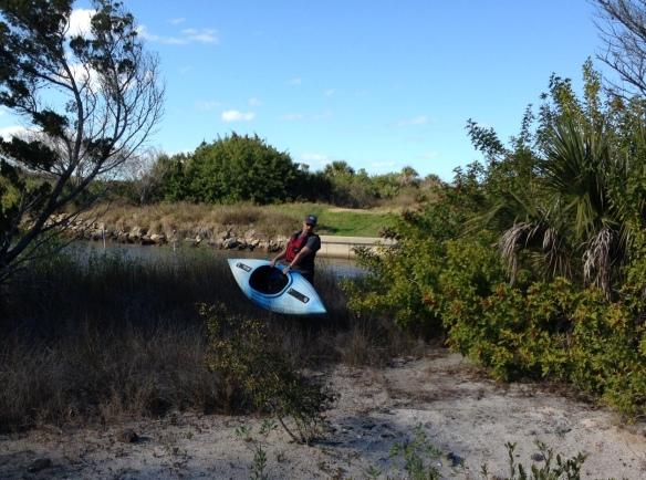 """The """"not fun"""" part of kayaking!"""