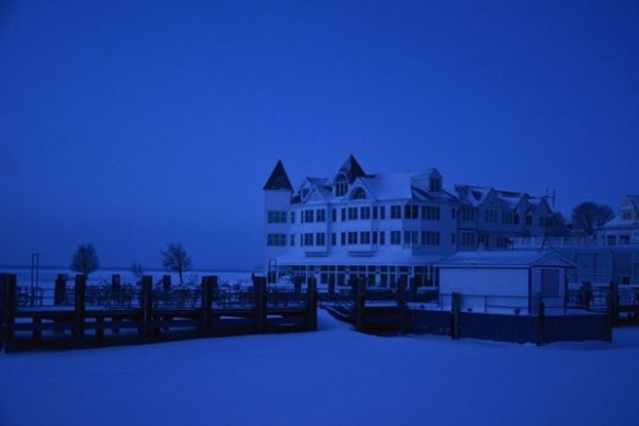 The Iroquois Hotel - still strikingly beautiful in the snow and cold.