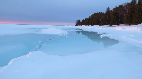 Ice is melting in the Straits, and the Ice Bridge is gone.  (Photo: Clark Bloswick)