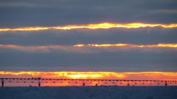 A beautifully layered sunset from Clark Bloswick . . .