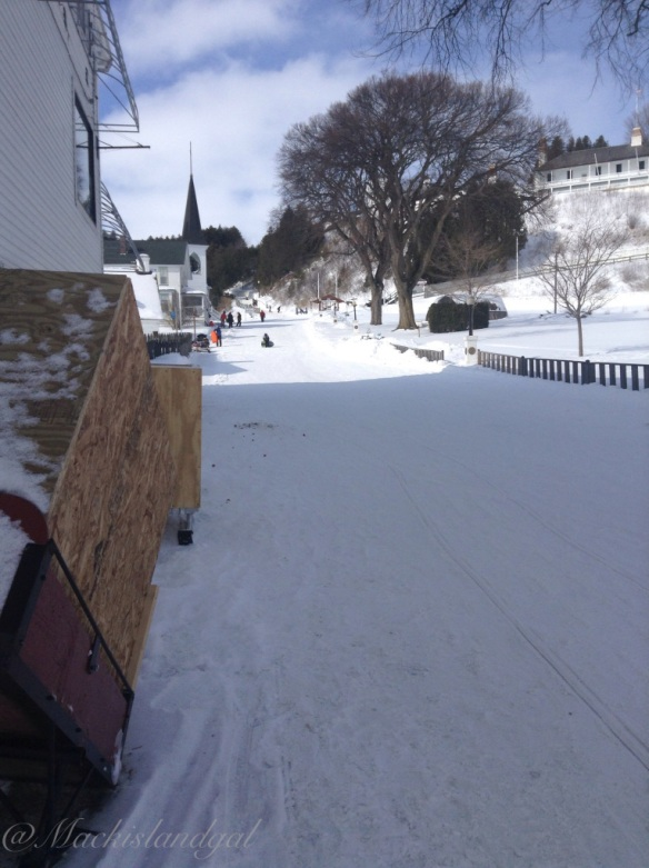 Heather May captured last Sunday's fun day of sledding down Fort  Hill!
