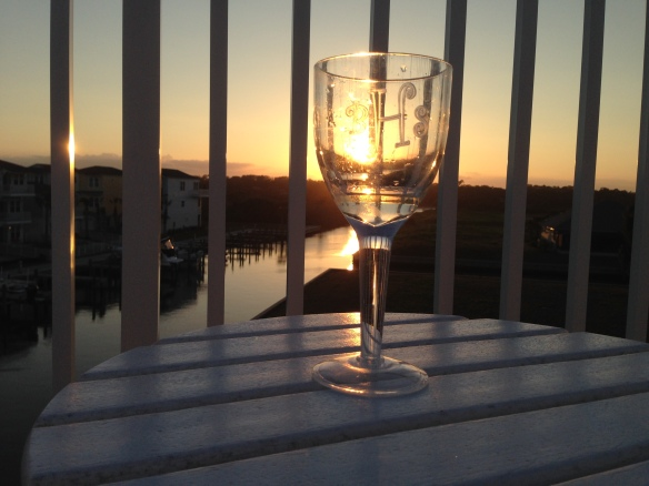 We've had a couple of days in the 80's - just right for sitting on the deck, sipping a nice glass of wine, and watching the sunset.