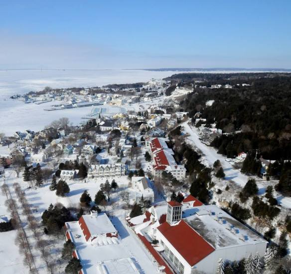 A great aerial shot from the U.S. Coast Guard Air Station out of Traverse City.