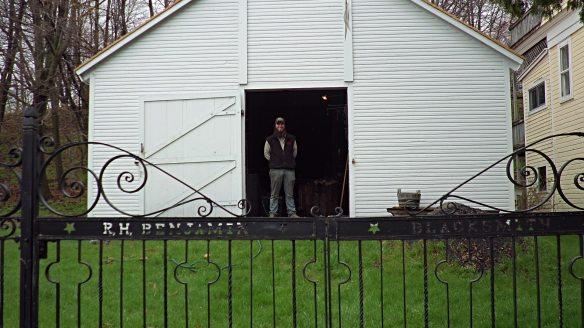 Looks like the blacksmith shop is getting ready to open.  (Photo: Jill Sawatzki)