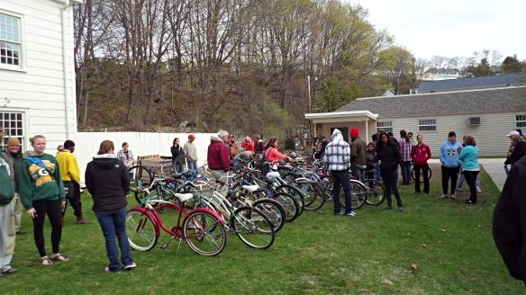 A bike auction.  (Photo: Jill Sawatzki)