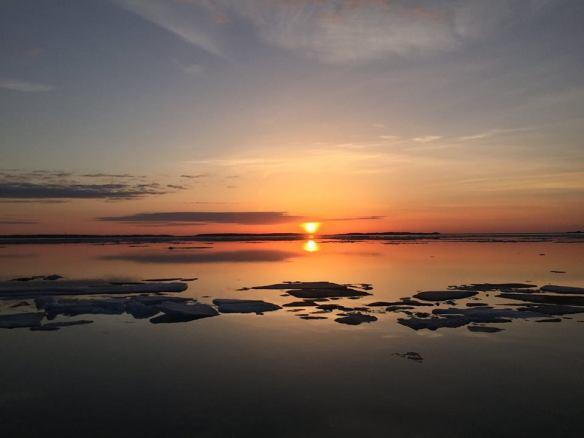 Sunset on April 30.  (Photo: Patrick Conlon)