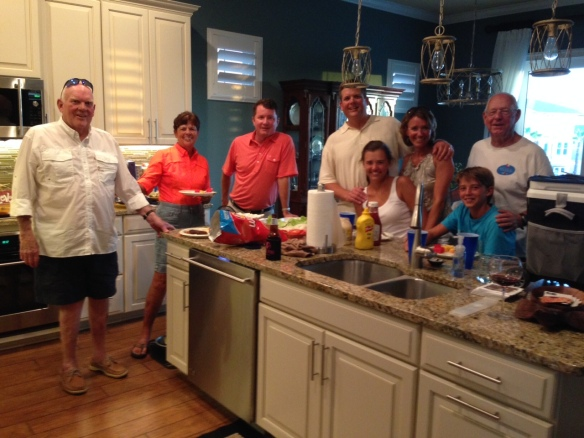 Later during Jason's visit, we had all the Hewitts over for Burgers . . .
