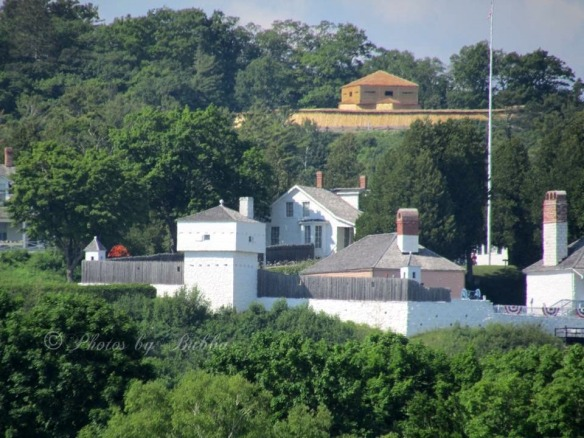 Wow!  The restoration of Fort Holmes is changing the scene as you come into the harbor.  Bruce LaPine captured this from a boat coming into the harbor.