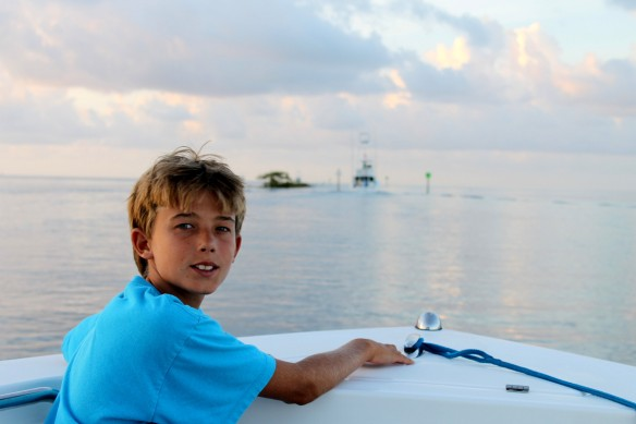 All the Hewitts love to fish, but Matthew definitely takes it all in and processes it through a young teenager's brain.  His passion to learn every single aspect of fishing knowledge is a grand thing to behold.