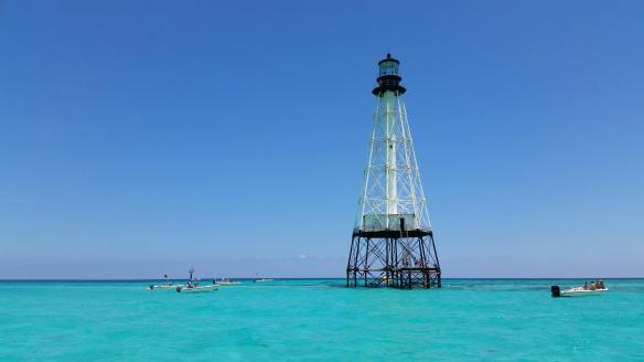 With the fish bites not coming at too steady a pace (we didn't catch any keepers), we headed in, with a stop at Alligator Key Lighthouse.