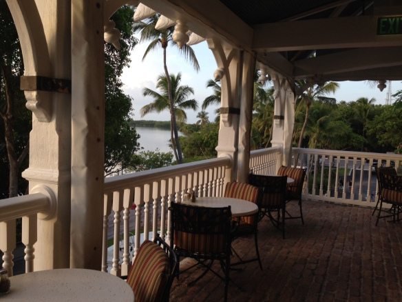 Before dinner on Saturday night, we went for drinks at Zane Grey Lounge and walked outside on the porch . . .