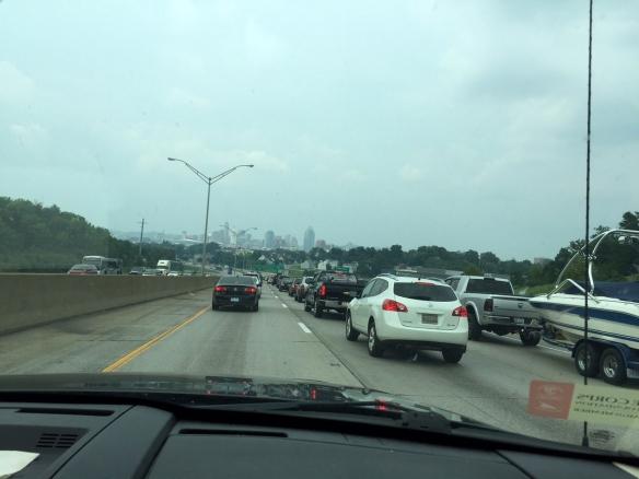Traffic backup outside Cincinnati.