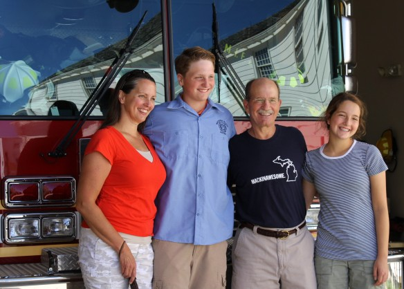 Max and his wonderful family - mom Karrie, dad John, and twin sister, Ellie. The MIFD will use the funds to purchase more ice rescue equipment.