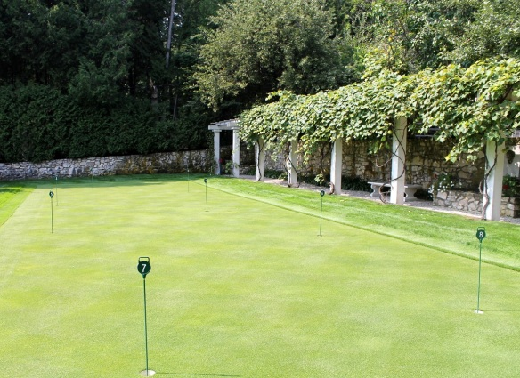 . . . is the owner's putting green!