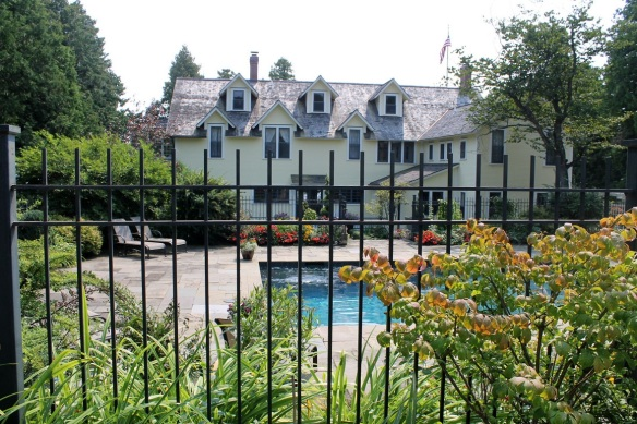 Behind the cottage is a beautifully landscaped pool. And behind that . . .