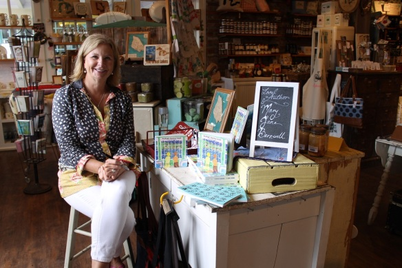 Island friend Mary Jane Barnwell at her recent book signing at Little Luxuries of Mackinac Island.
