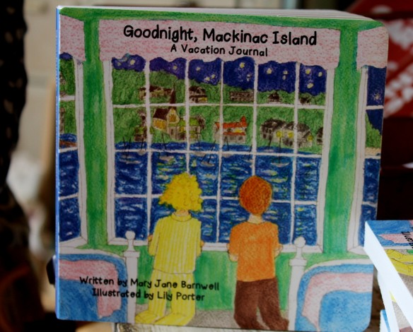 The book, Goodnight, Mackinac Island was written by Mary Jane and illustrated by wonderful Mackinac artist Lily Porter. A wonderful souvenir of the island that you'll read over and over again to the children and grandchildren!