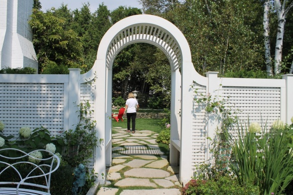. . . even the custom-designed walkway into the home's back yard.