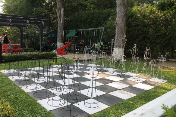 . . . and a life-size chess board!