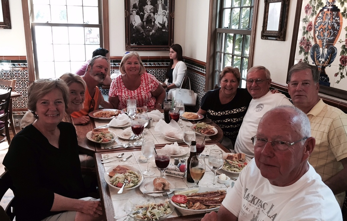 We've been doing fun things with new friends this month - like going to the Creekside Fair and spending a day recently in St. Augustine. Of course, any trip includes food!