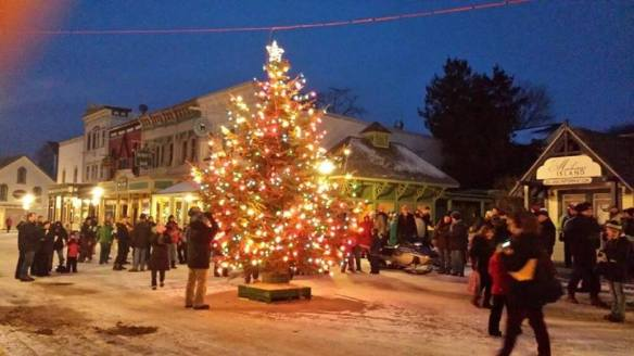 And here's where I'll be - good Lord willing - on Friday night, Dec. 4. Can't wait to stand right there for the lighting of the Mackinac Island Christmas tree - right smack dab in the middle of Main Street!