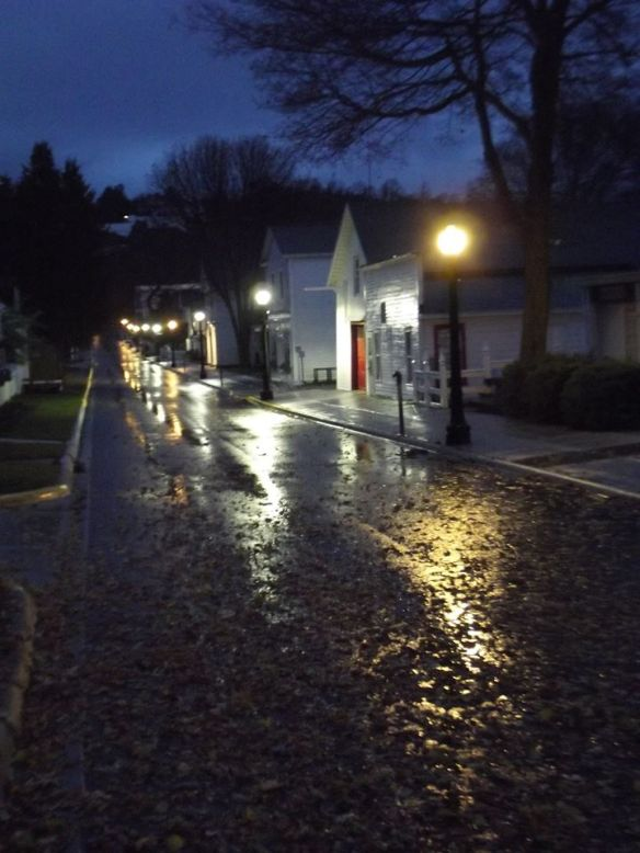 While Mackinac remains snowless for now, the island has hosted some rainy days and nights . . .