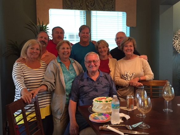 We had a surprise birthday party for Ernie Sund, a neighbor here in Sunset Inlet this afternoon.
