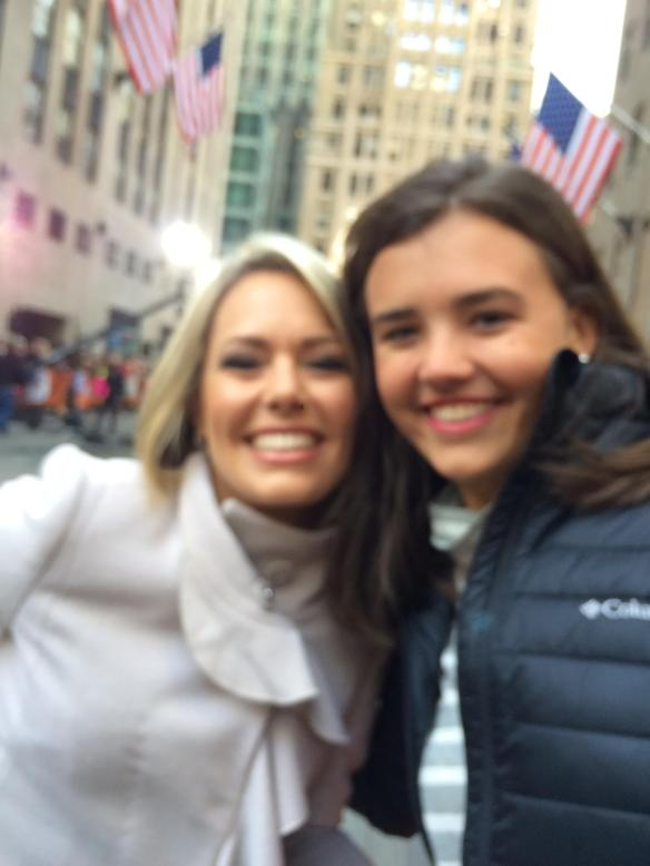 Bright and early Friday morning Ted and I spotted both Julie and Jordan on the plaza at the Today Show, and Jordan had her photo made with Dylan Dreyer.