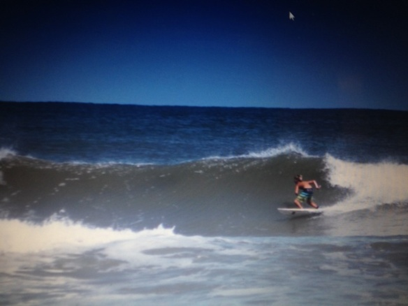 From Mackinac back to Florida! Our 13-year-old Matthew doing some serious surfing a few weeks ago!